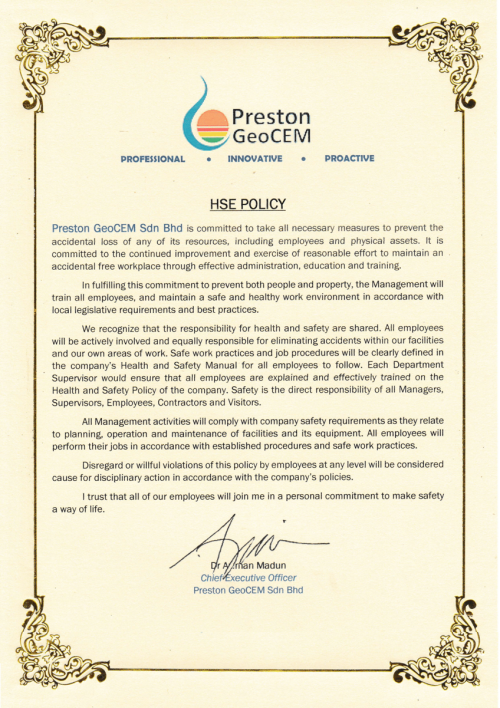 PGSB HSE Policy